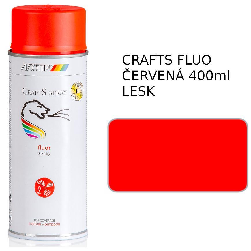 Sprej Crafts fluorescenční červená 400ml