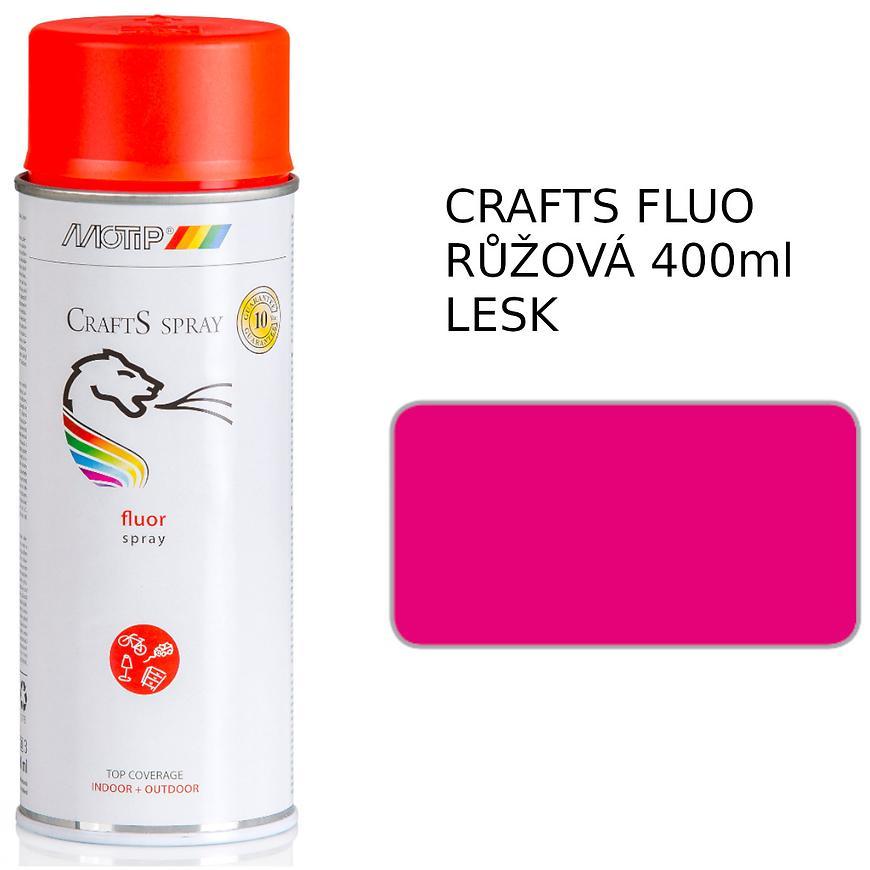 Sprej Crafts fluorescenční růžový 400ml