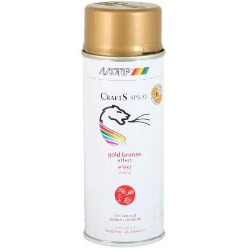 Sprej Crafts effect chromová zlatý 400ml