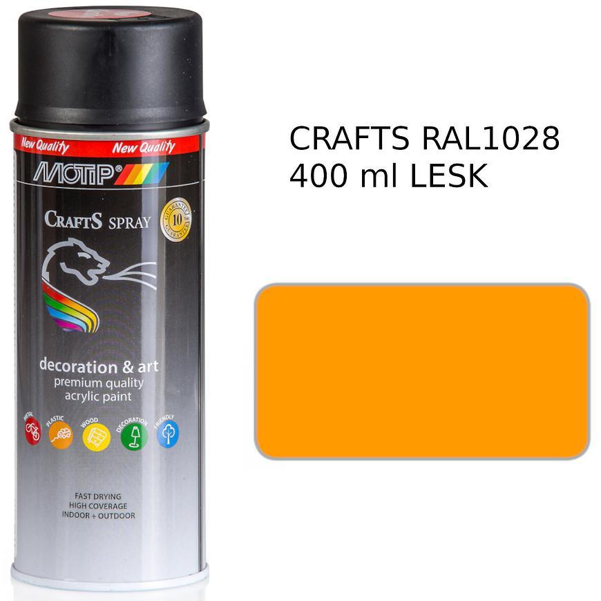 Sprej Crafts žlutá RAL1028 400ml