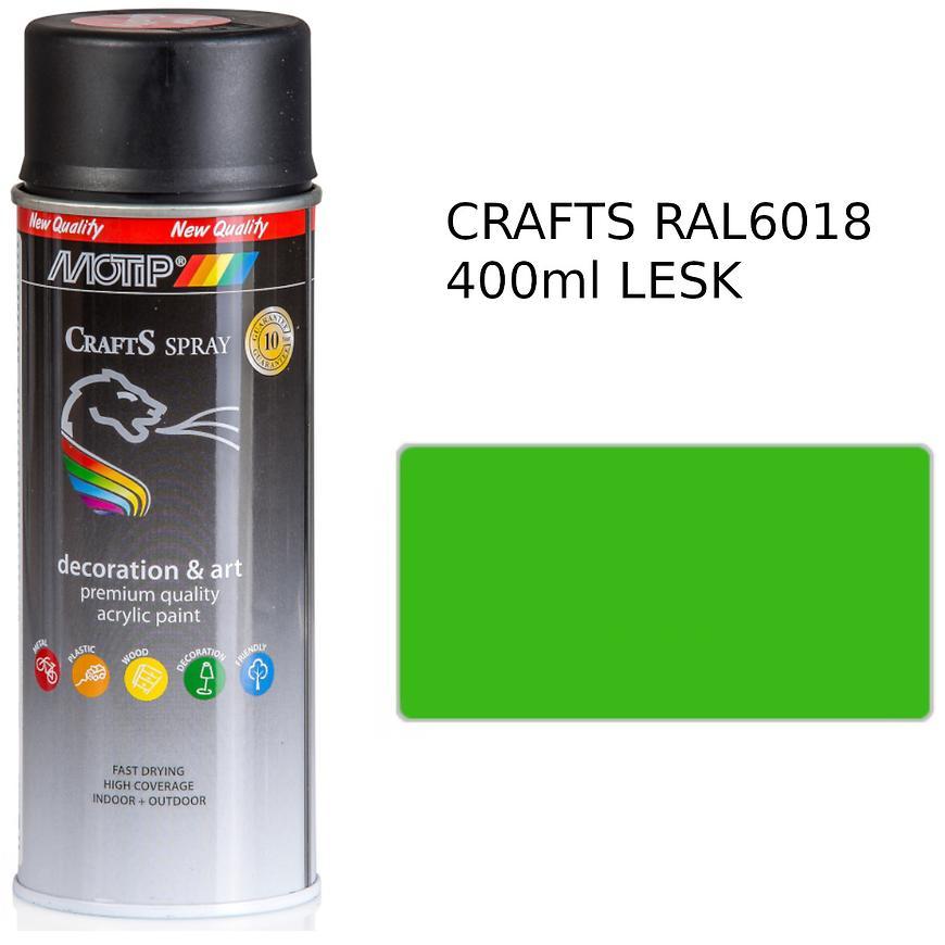 Sprej Crafts zelená RAL6018 400ml