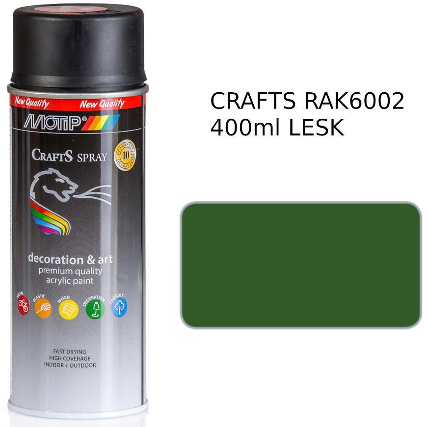 Sprej Crafts zelená RAL6002 400ml