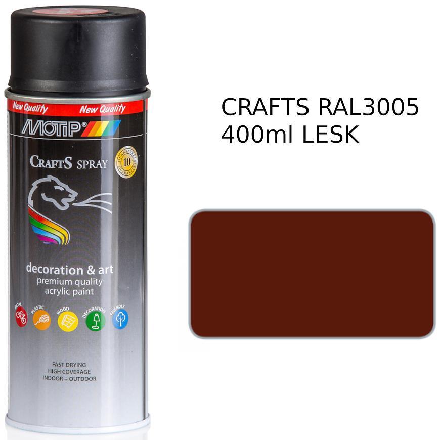 Sprej Crafts červená RAL3005 400ml