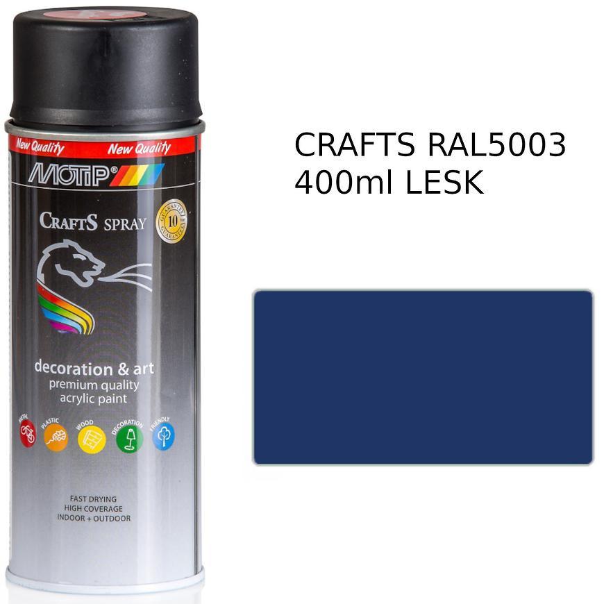 Sprej Crafts modrý RAL5003 400ml