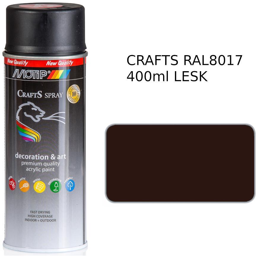 Sprej Crafts tmavě hnědá RAL8017 400ml