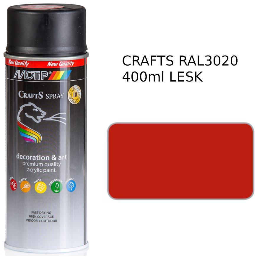 Sprej Crafts červená RAL3020 400ml
