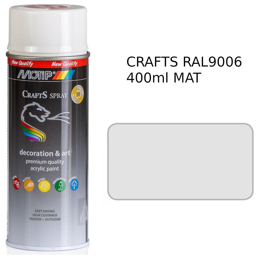 Sprej Crafts stříbrný RAL9006 400ml