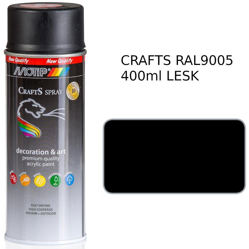 Sprej Crafts černá lesk RAL9005 400ml