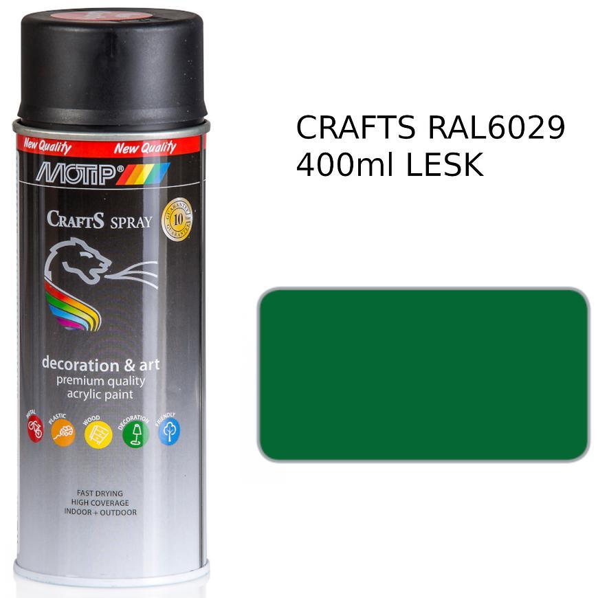 Sprej Crafts zelená RAL6029 400ml