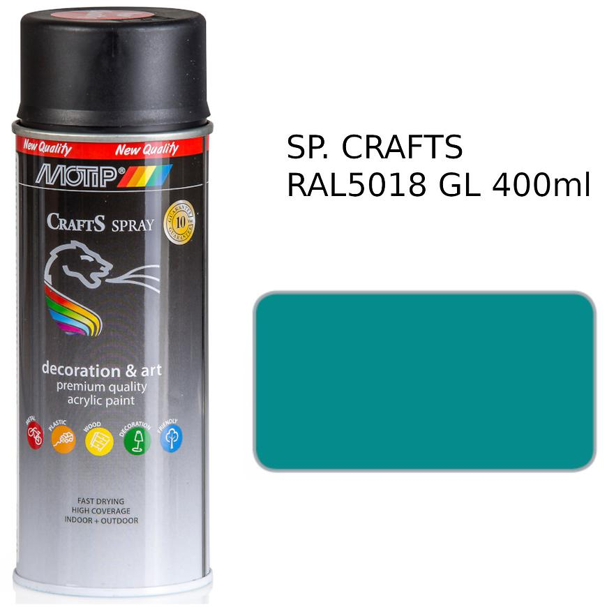 Sprej Crafts turquoise RAL5018 400ml