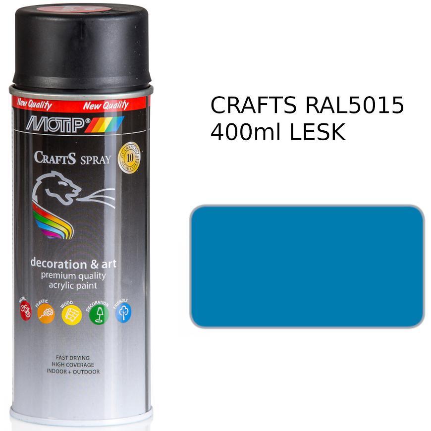 Sprej Crafts modrý RAL5015 400ml