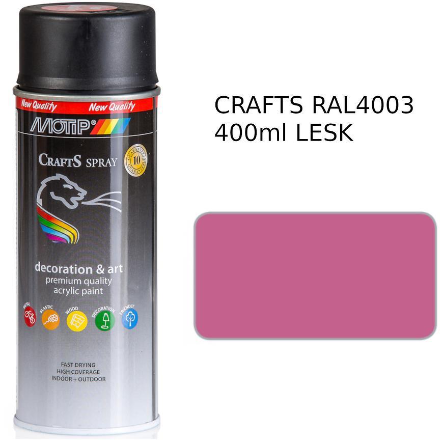 Sprej Crafts růžový RAL4003 400ml