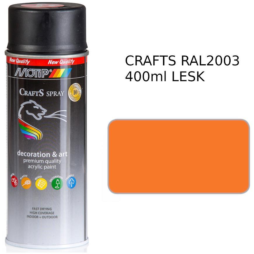Sprej Crafts oranžový RAL2003 400ml