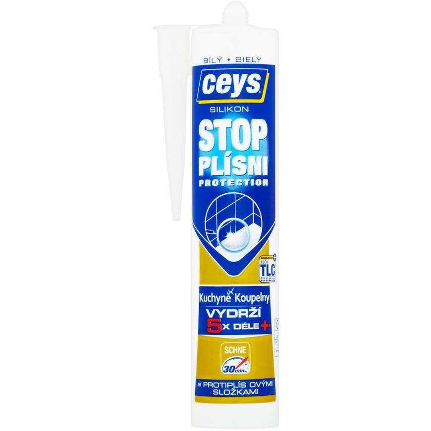 Silikon sanitární Ceys stop plísni bílý 280 ml