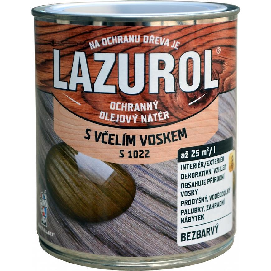 Lazurol S1022 lak s voskem na dřevo 0,75l