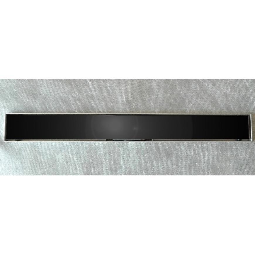 Lineární odvodnìní cèrné sklo 800