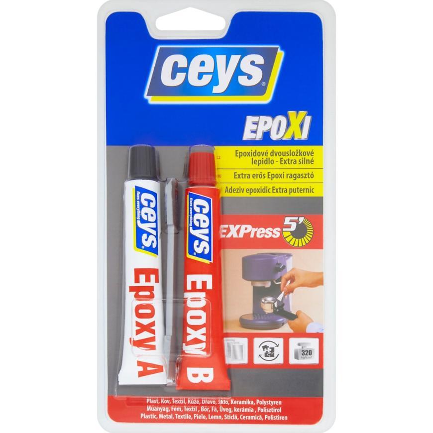 Lepidlo Ceys Epoxidové Express5´ dvousložkové extra silné 2 x 15 ml