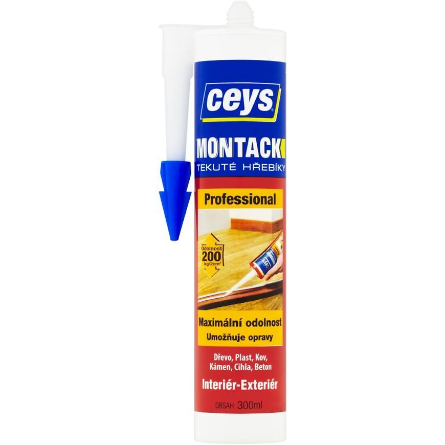 Montážní lepidlo Ceys Montack Professional tekuté hřebíky 300 ml