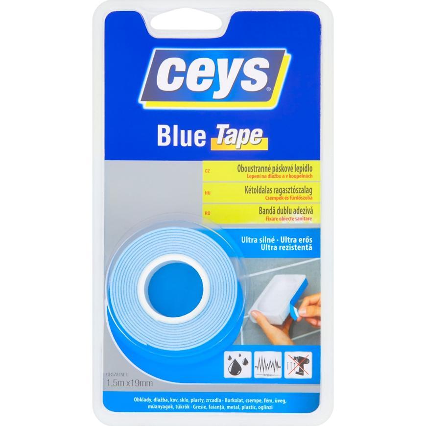 Oboustranné páskové lepidlo Ceys Blue Tape 1,5m x 19mm
