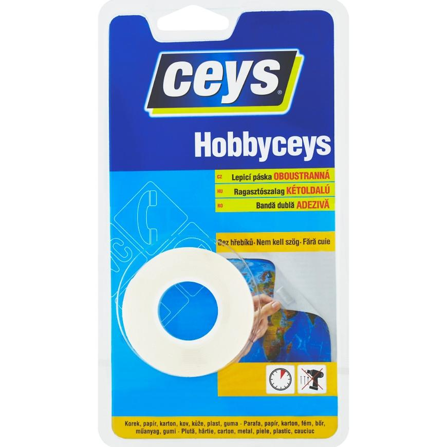 Oboustranná lepicí páska Ceys Hobbyceys 2 m x 15 mm