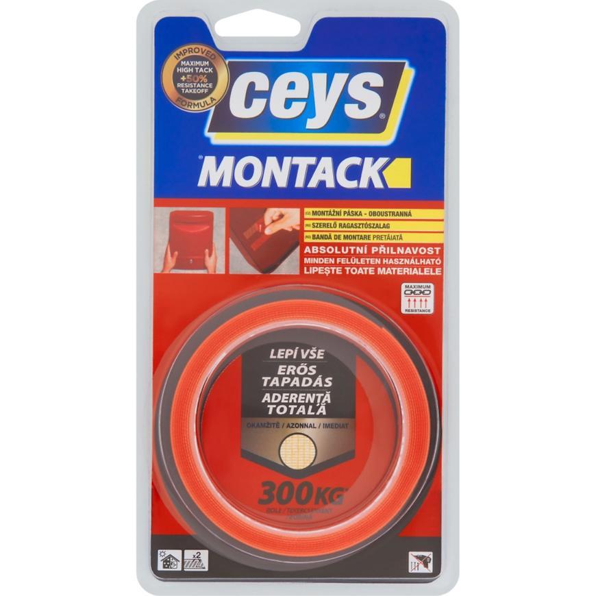 Montážní páska oboustranná Ceys Montack 2,5 x 19 mm