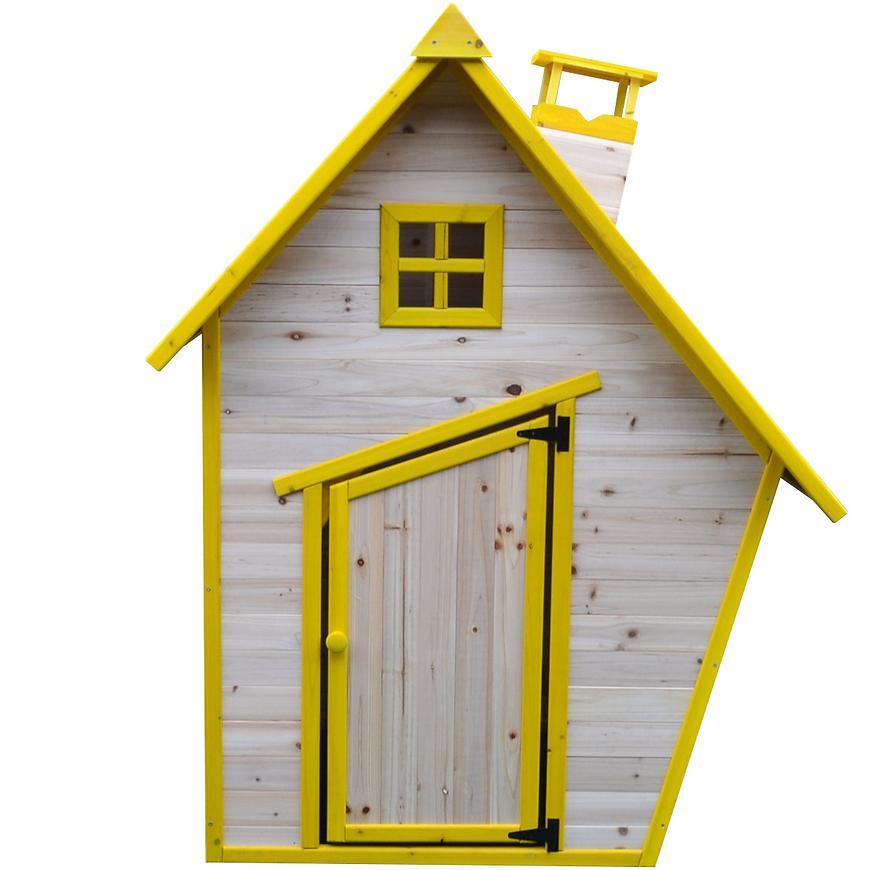 Dřevěný dětský domeček Flinky 185 cm s pískovištěm