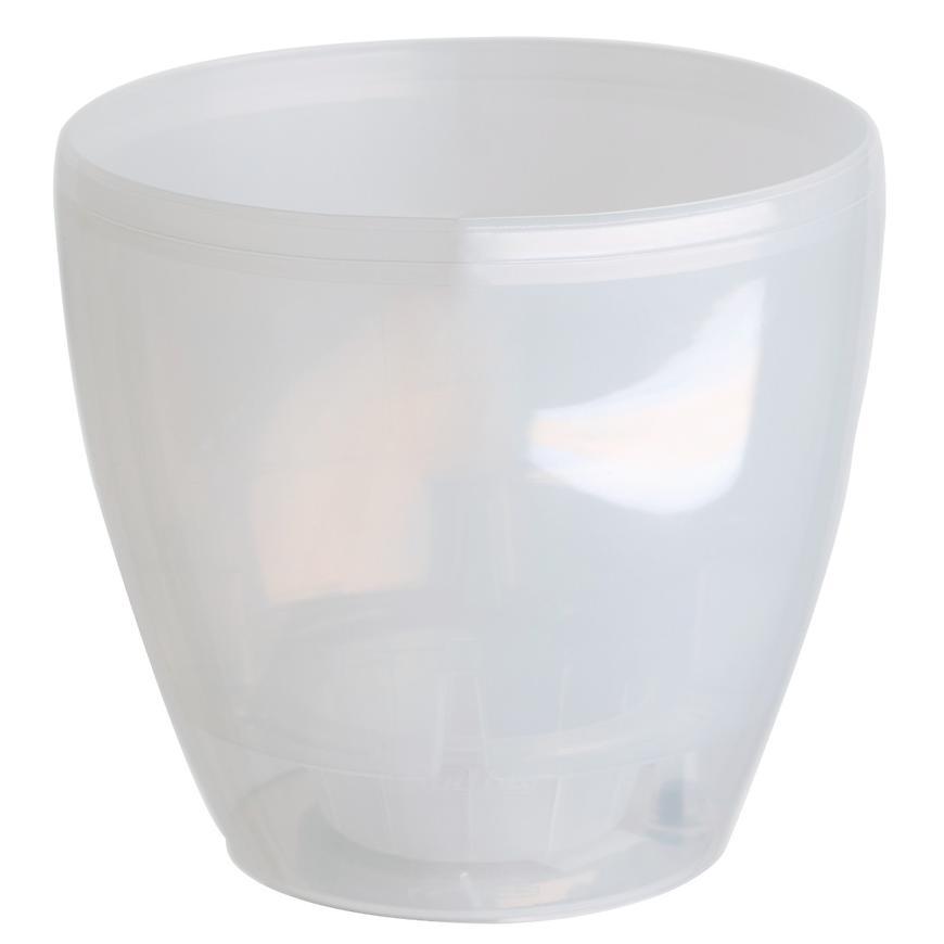 Květináč DECO TWIN 2.5L transparentní