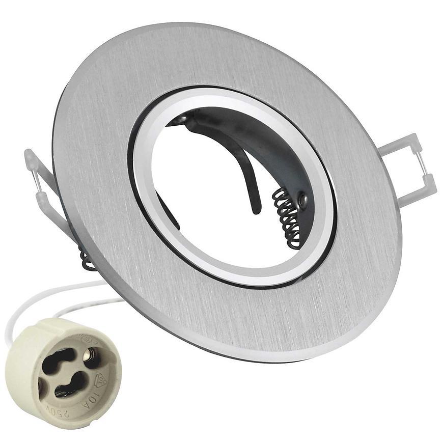 Kulaté stropní světlo bodové Opal -IOA95S2 stříbrné