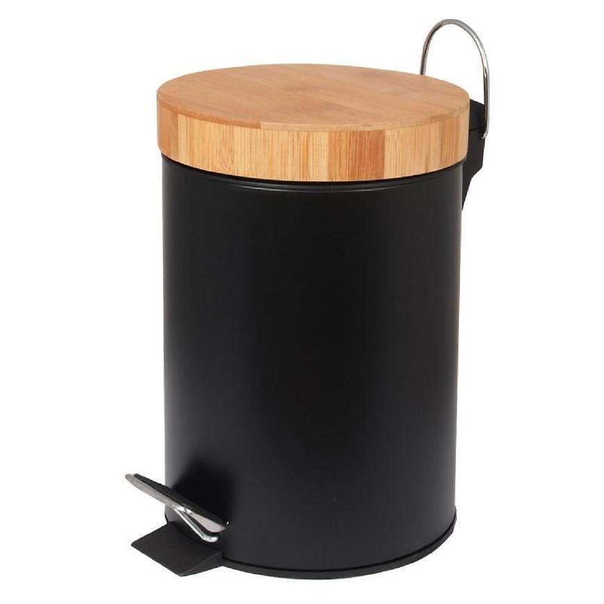 Odpadkový koš černý bambus Bin-Blk