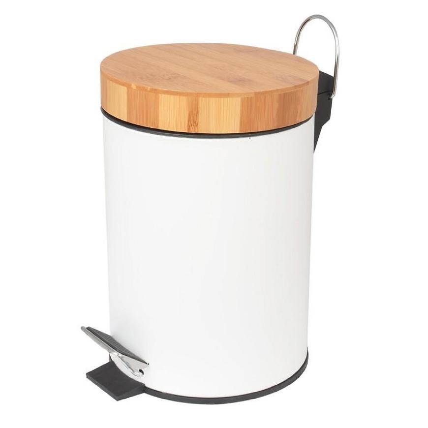 Odpadkový koš bílý bambus Bin-Wht