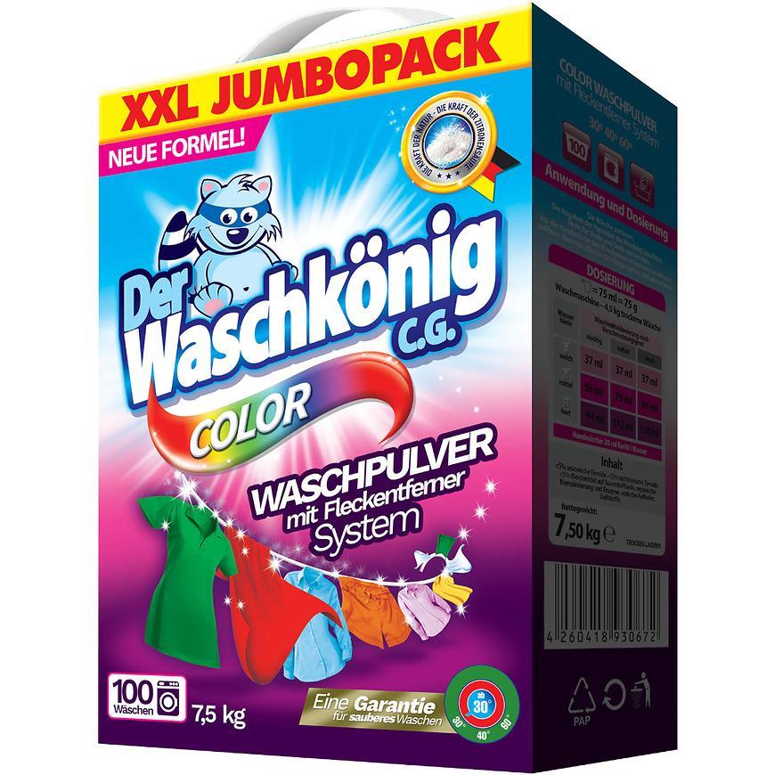 Waschkönig 100 dávek color  box 7,5 kg