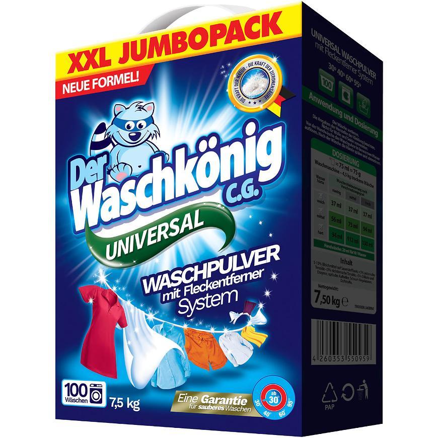 Waschkönig 100 dávek universal box 7,5 kg 759219