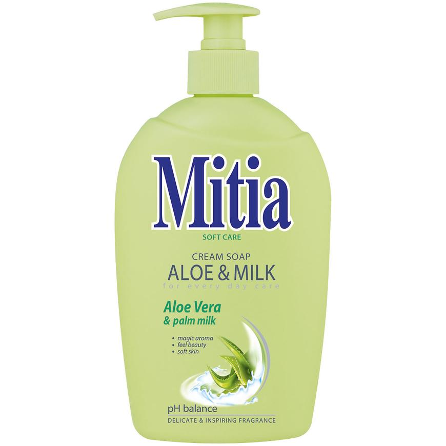 Mitia tek.mýdlo s dáv.aloe+milk 500 ml