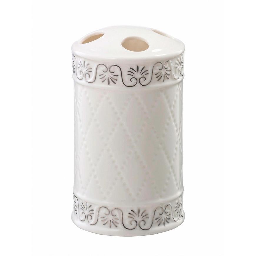 Sklenička na zubní kartáčky Castello bílá 03050