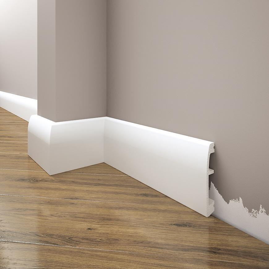 Podlahová lišta Elegance LPC-06-T101 bílá satén