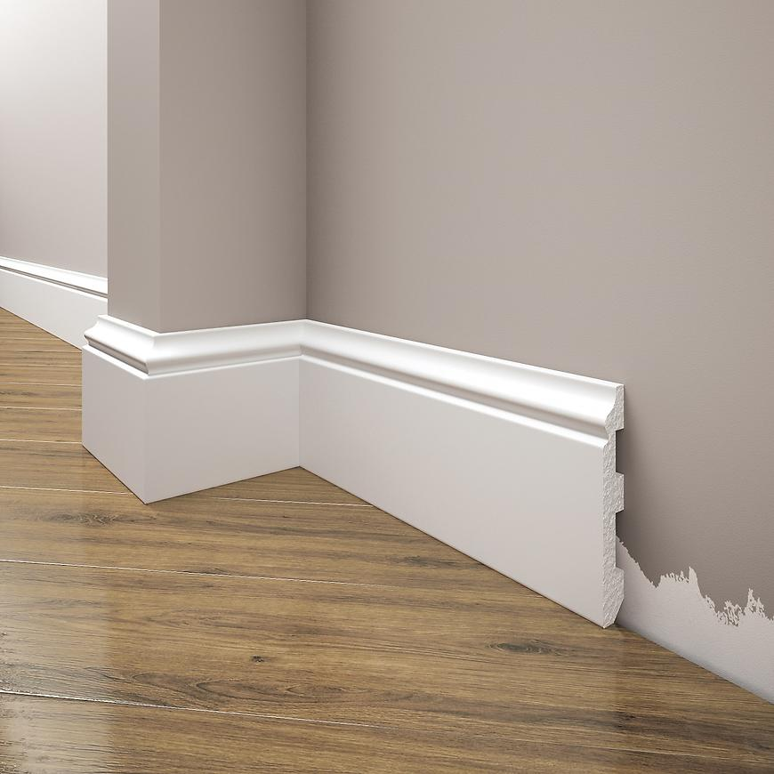 Podlahová lišta Elegance LPC-07-T101 bílá satén