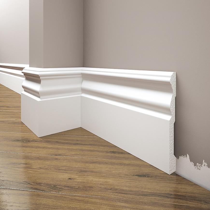 Podlahová lišta Elegance LPC-09-T101 bílá satén