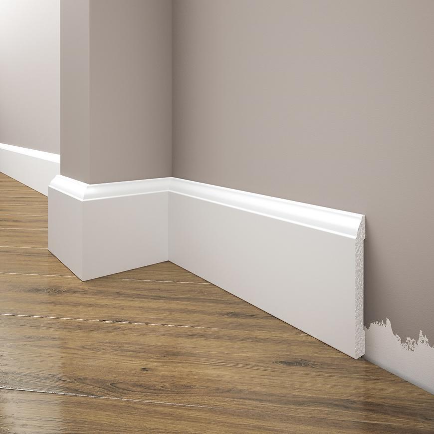 Podlahová lišta Elegance LPC-15-101 bílá mat