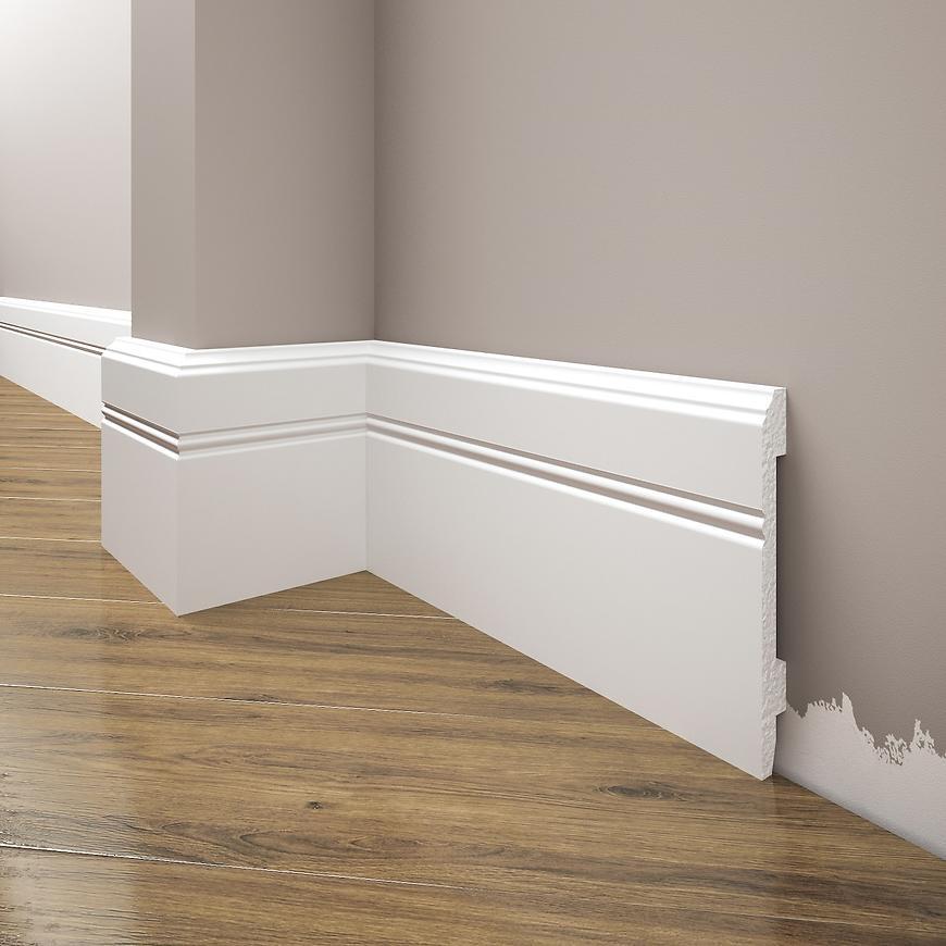 Podlahová lišta Elegance LPC-18-T101 bílá satén