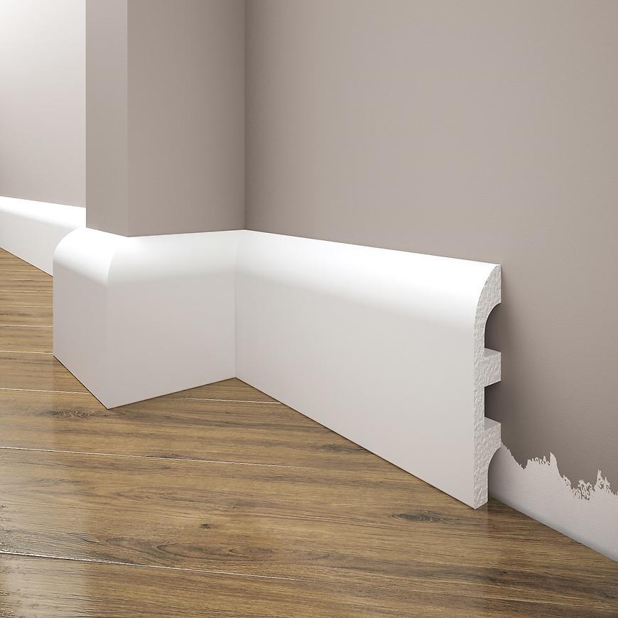 Podlahová lišta Elegance LPC-99-T101 bílá satén