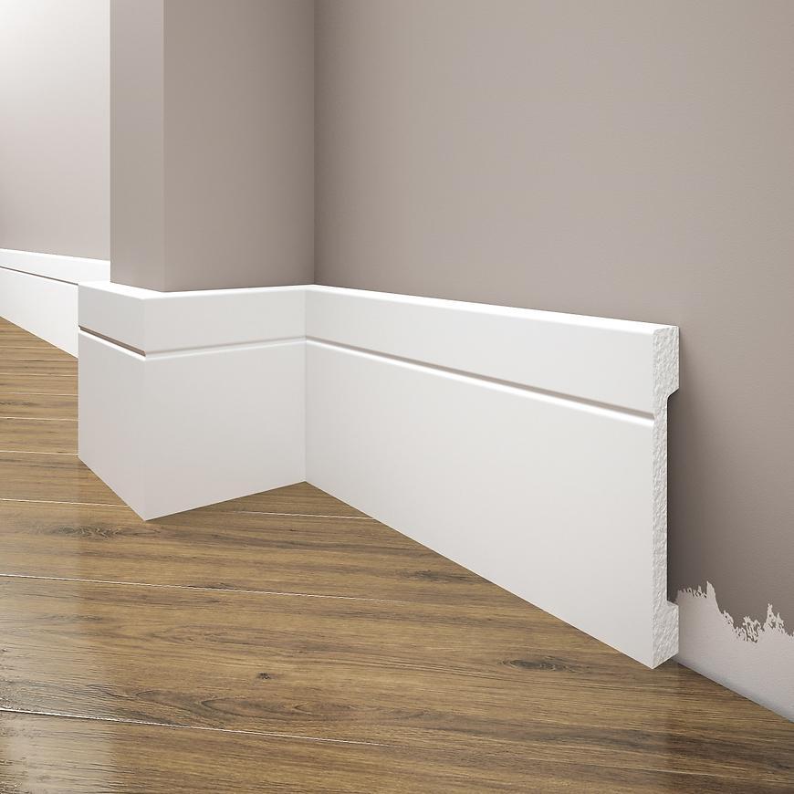 Podlahová lišta Elegance LPC-20-101 bílá mat