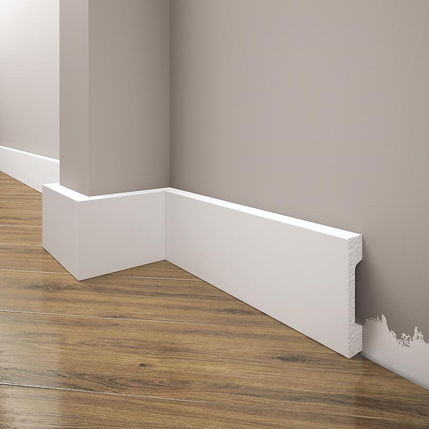 Podlahová lišta Elegance LPC-23-101 bílá mat