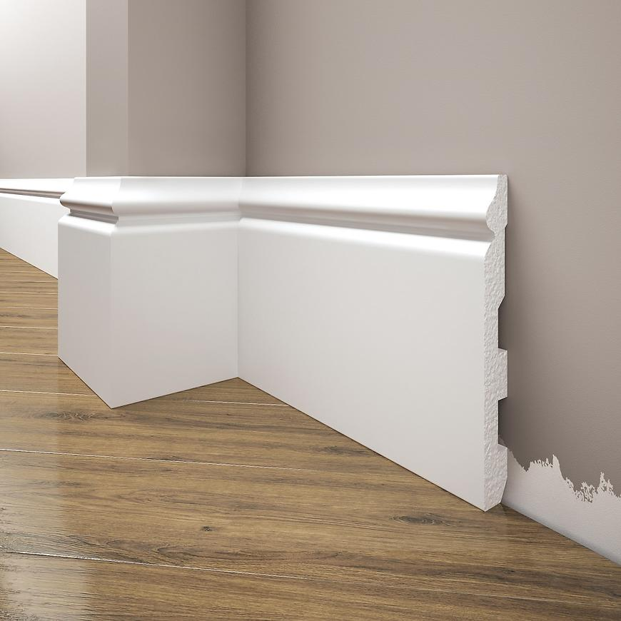 Podlahová lišta Elegance LPC-24-101 bílá mat
