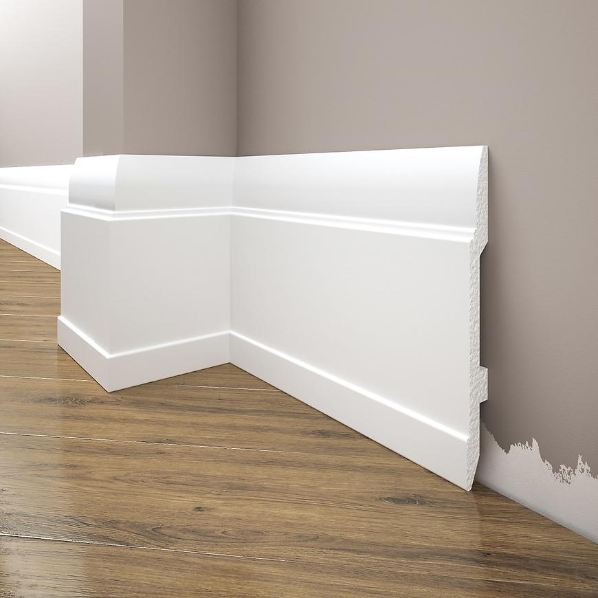 Podlahová lišta Elegance LPC-25-T101 bílá satén