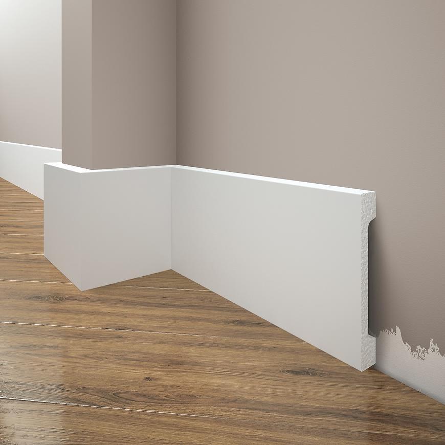 Podlahová lišta Elegance LPC-29-T101 bílá satén