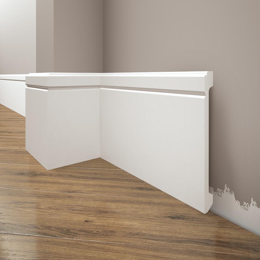 Podlahová lišta Elegance LPC-30-T101 bílá satén