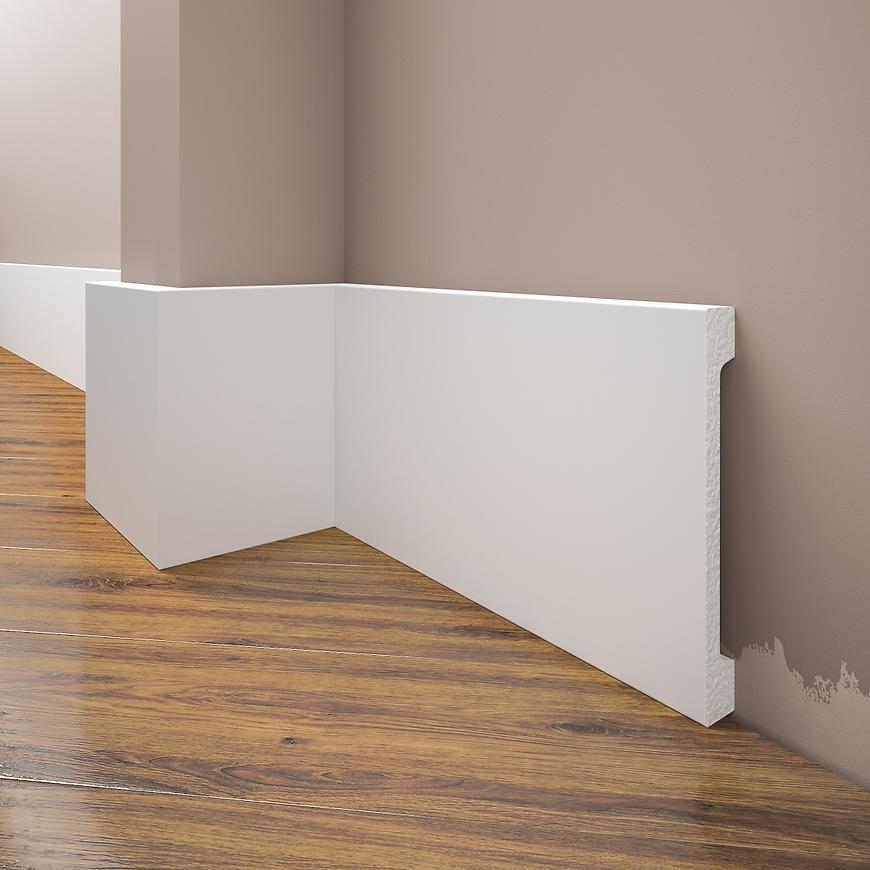 Podlahová lišta Elegance LPC-31-T101 bílá satén