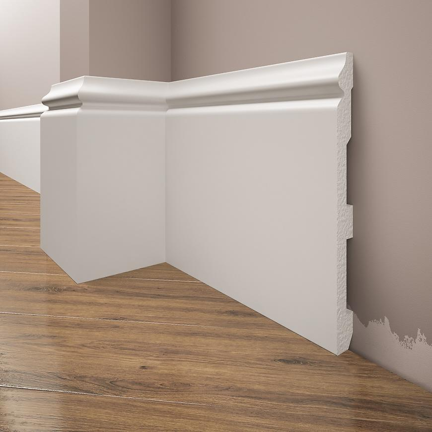 Podlahová lišta Elegance LPC-33-T101 bílá satén