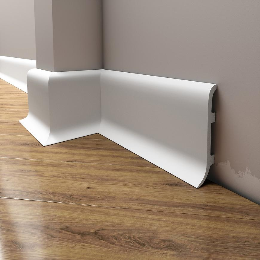 Podlahová lišta Elegance LPC-40-T101 bílá satén
