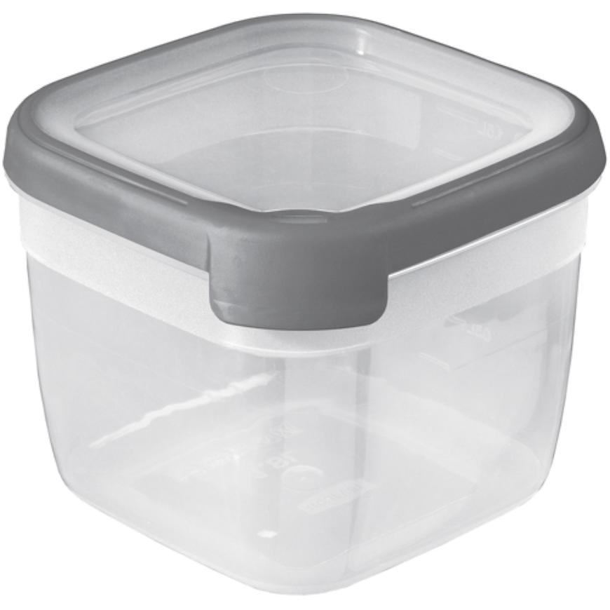 """Box """"grand chef"""" čtverec 1,8l šedý/transparentní 175146"""